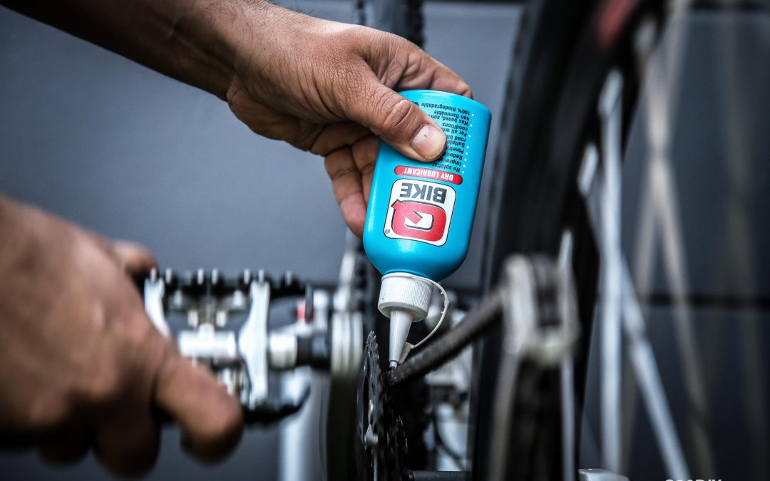 Dry wax lube on bicycle chain