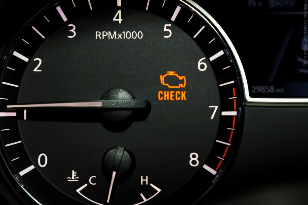 Check Engine Light Warnings & A Common Cause
